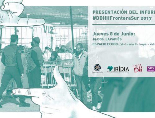 """Presentación Informe """"DDHH Frontera Sur 2017"""""""