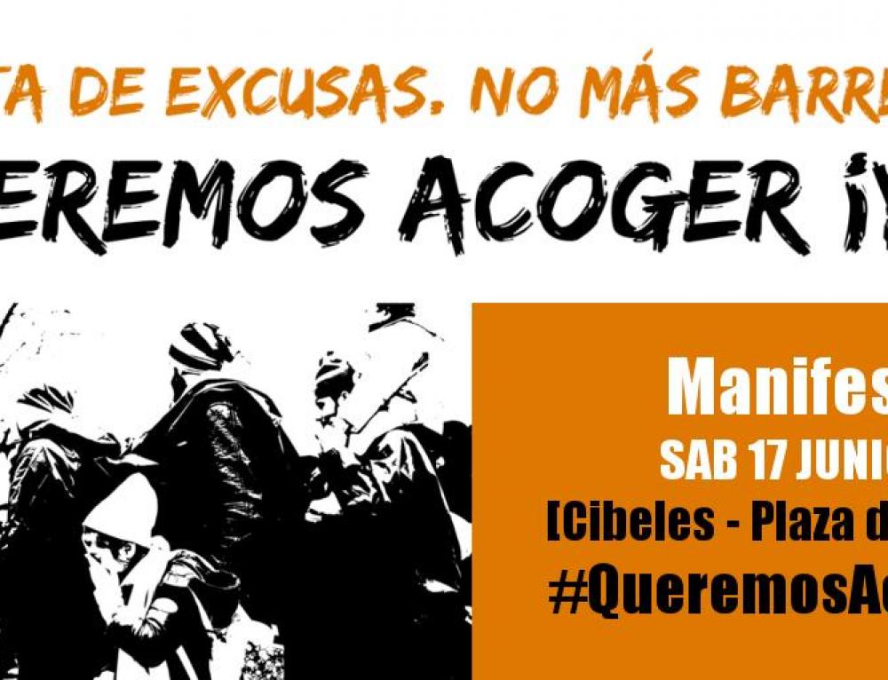 Manifestación #QueremosAcogerYa