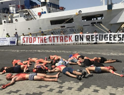 Caravana Abriendo Fronteras denuncia en Catania #FreedomNoFrontex