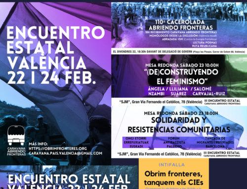 Concluye el encuentro estatal de la red activista Caravana Abriendo Fronteras en València #VlCaravana