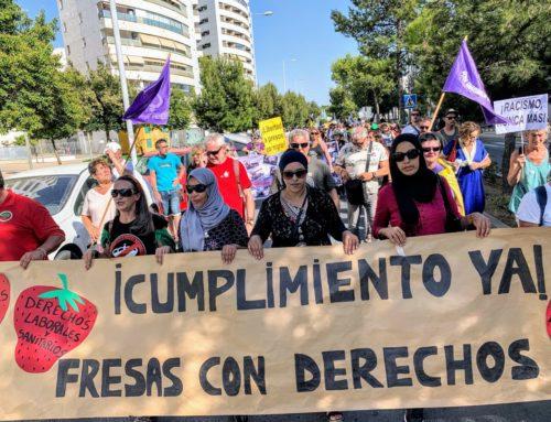Caravana Abriendo Fronteras recorre Huelva en solidaridad con las temporeras marroquíes